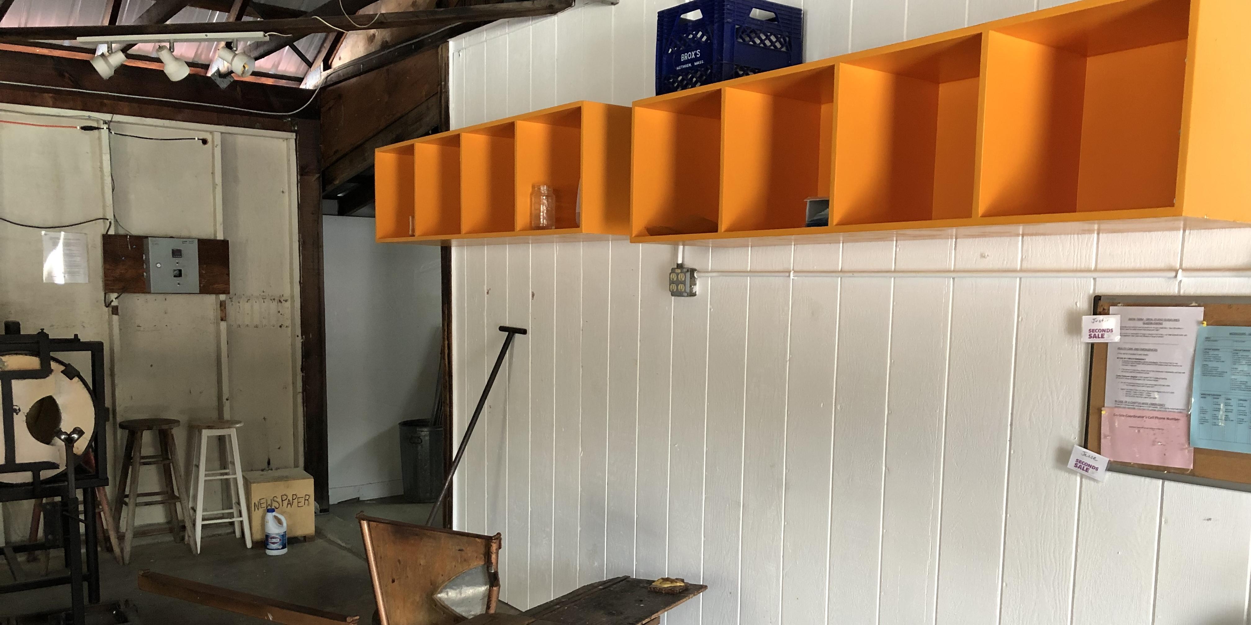 glassblowing studio storage