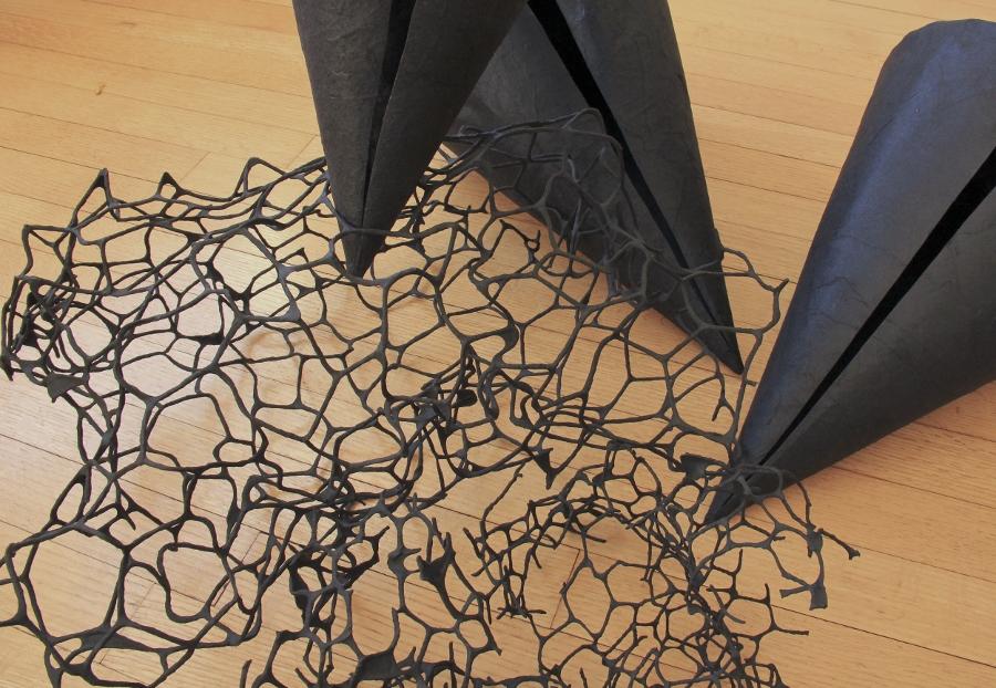 fafnir adamites, modern sculpture, paper sculpture
