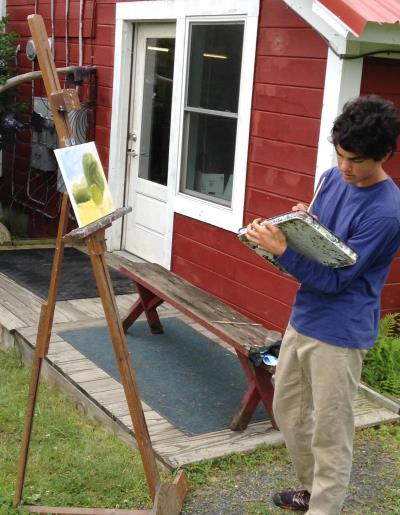plein air painting, new england landscape painting
