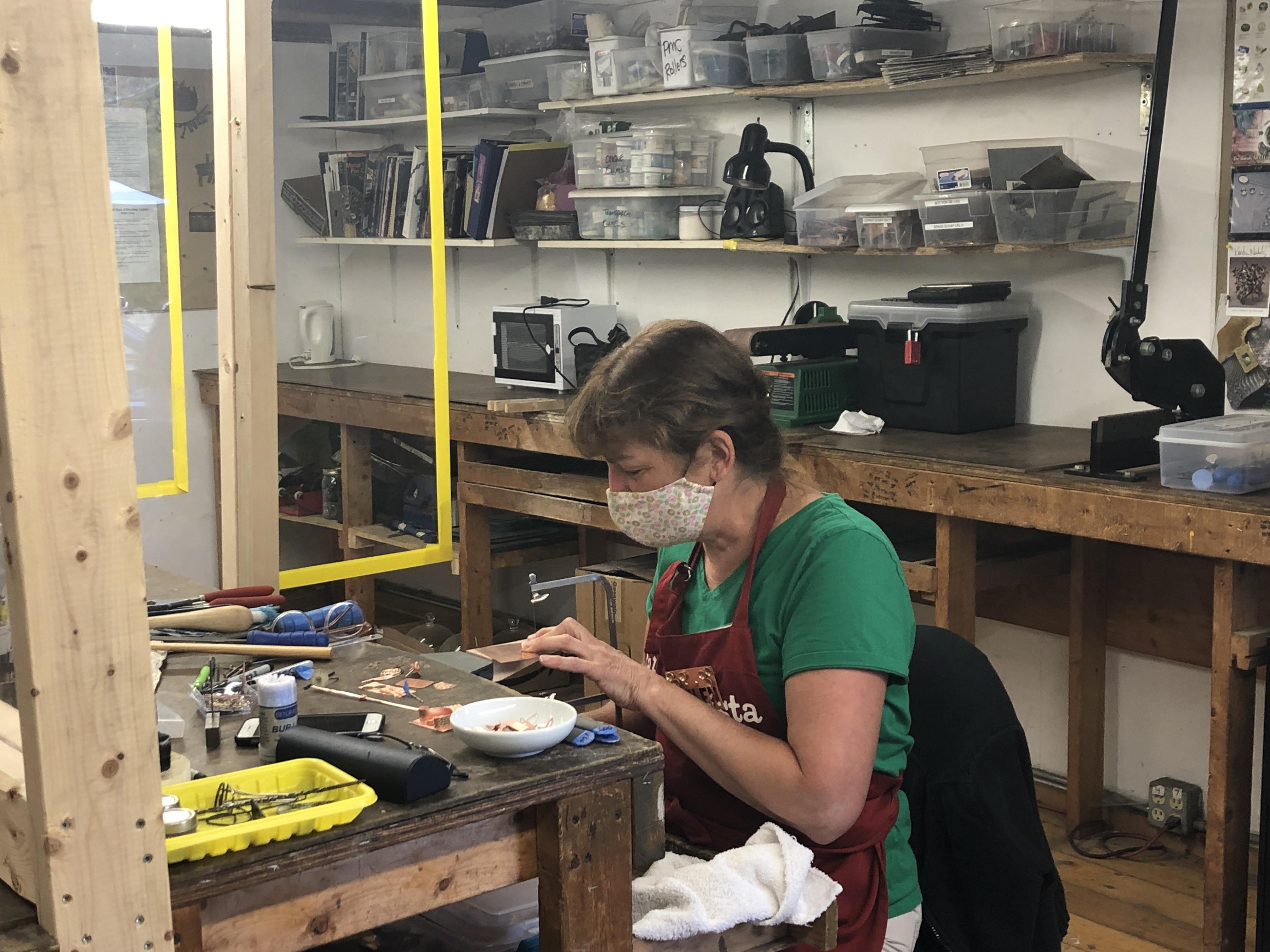 covid safe metalsmithing workshop