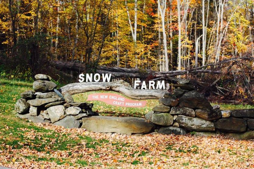 road signs new england, snow farm craft program