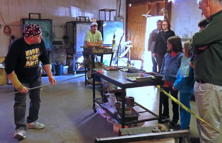 glassblowing, handmade ornaments, make your own ornament