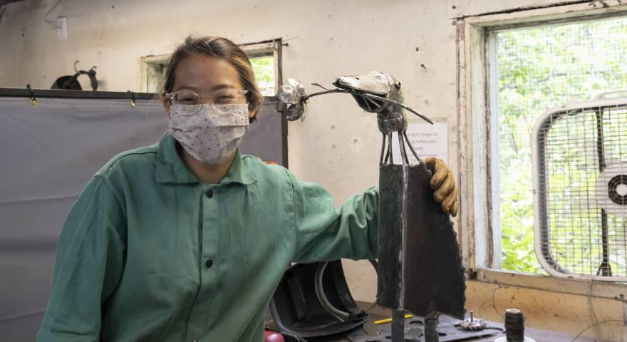 craft school, snow farm craft, welded sculpture