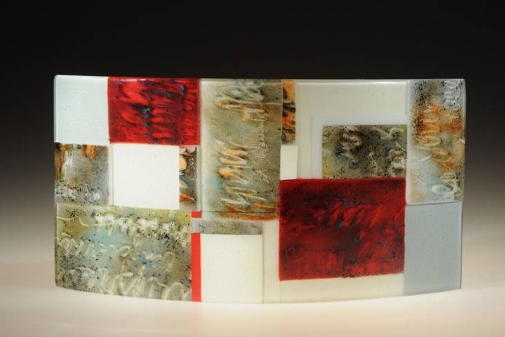 Glass. Janet Dalecki. Fused Glass Collage