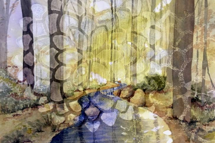 Susan McFarlane, Playing in the Water: Experimental Watercolor, 2D Mixed Media