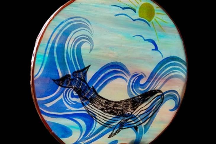 Sam Myers, Painting on Layered Glass, Kiln Glass