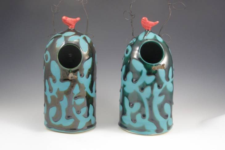 Liz Rodriguez, Beautiful Clay Birdhouses, Ceramics