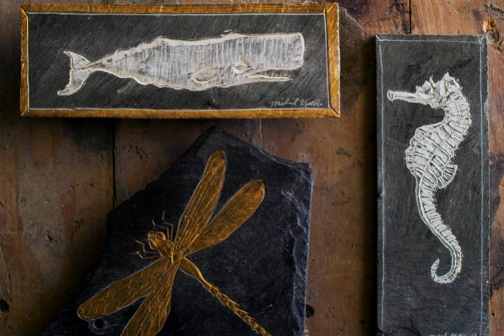 Michael Updike, Carving Stories into Stone, Wood Studio