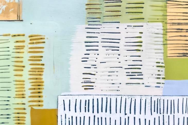 Dietlind Vander Schaaf, Encaustic and Paper: Collage, Dip, Monoprint, 2D, Mixed Media