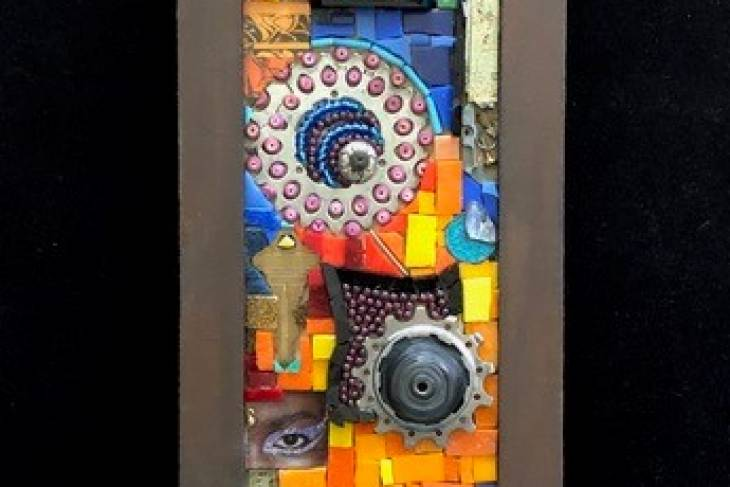 Emily Bhargava, Mosaic with Found Objects