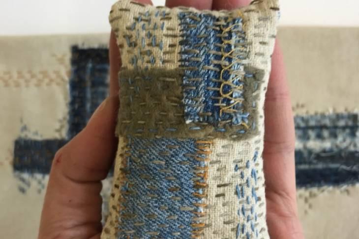 Eva Camacho-Sanchez, Seamless Felting, Mark-Making on Textiles, Slow Stitching