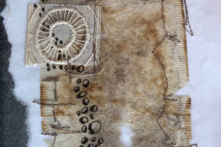 Eva Camacho-Sanchez, Mark Making on Textiles