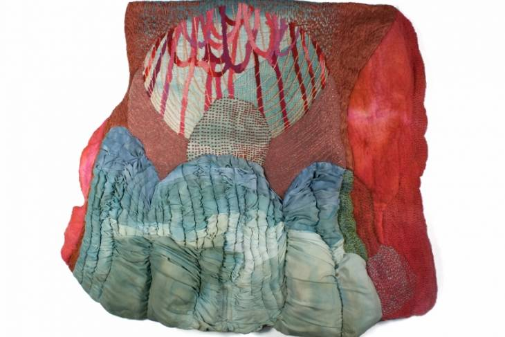Erin Castellan, Physical Images:Fabric, Thread, Beads and Paint