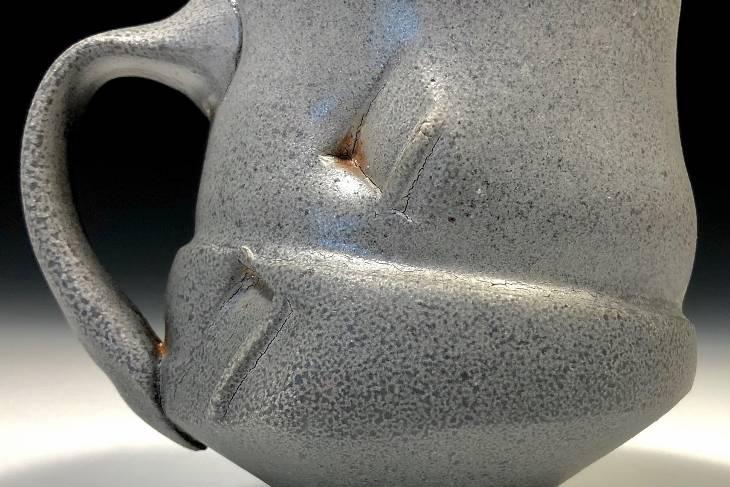 Ben Eberle, Wood Block Printing On Wheel Thrown Pots, Ceramics