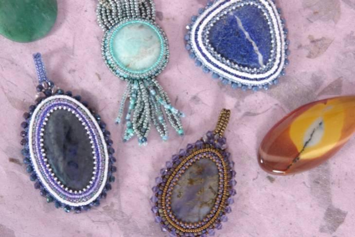 Susan Jefferson, Beaded Bezels - Beading Around a Cabochon, Metalsmithing, Jewelry