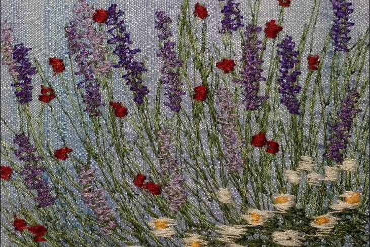 Fiber & Baskets. Susan Levi-Goerlich. Free Motion Machine Embroidery