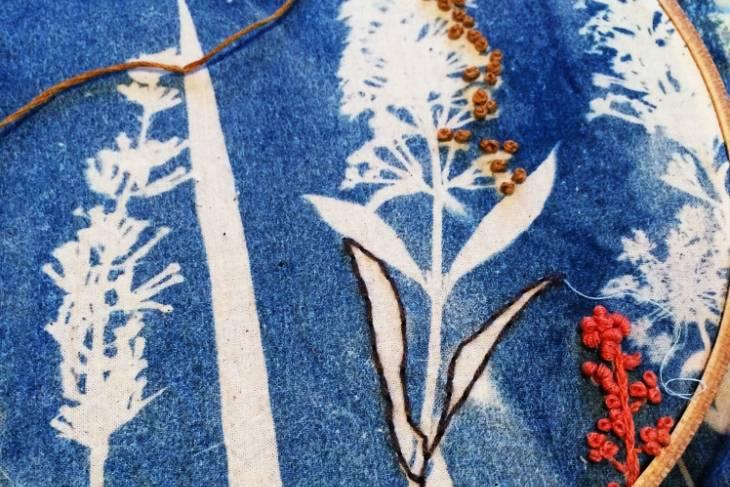 Joetta Maue, Cyanotype and Stitch