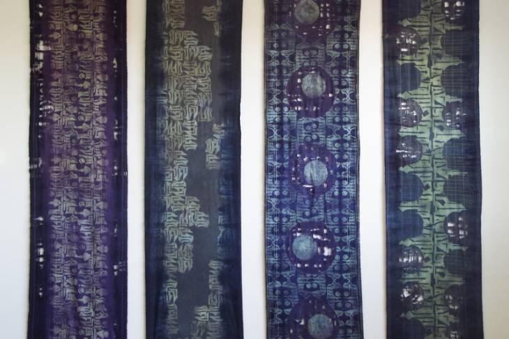 Fiber & Baskets. Emily Parkinson. Screen-printing Pattern for Textile Design