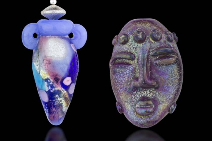 Glass. Janice Peacock. Ancient Masks & Vessel Beads