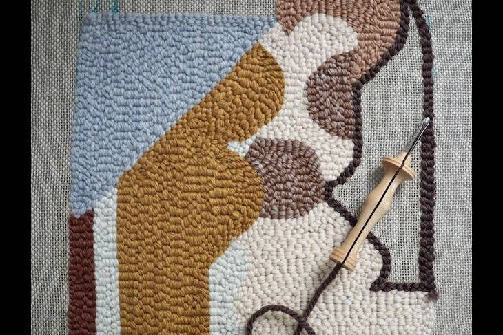 Rose Pearlman, Rug Hooking with the Oxford Punch Needle