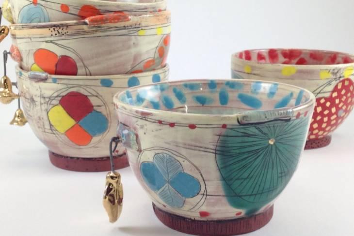 Kari Radasch, Pottery Party: Form, Line and Color