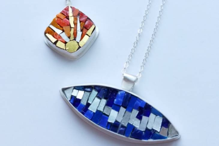 Mary Risley, Christine Kenneally, Mosaic Jewelry