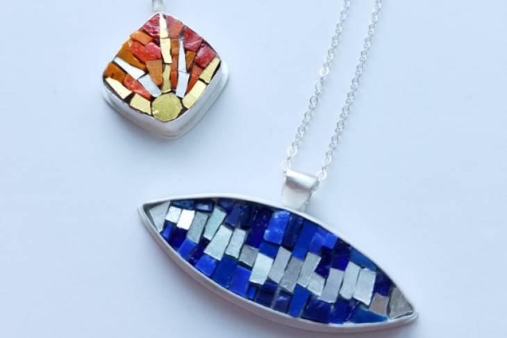 Mary Risley, Christine Kenneally, Mosaic Jewelry