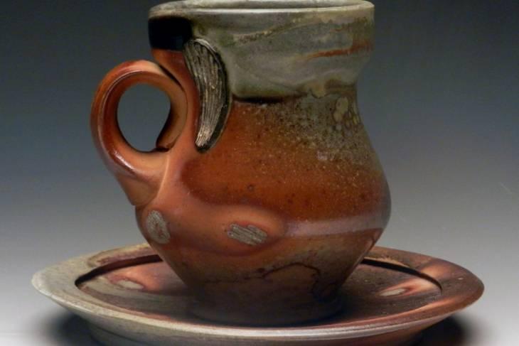 soda firing, handmade mugs, ceramic vessels