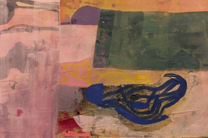 Alexandra Sheldon, Explorative & Painterly Collage, 2D, Mixed Media