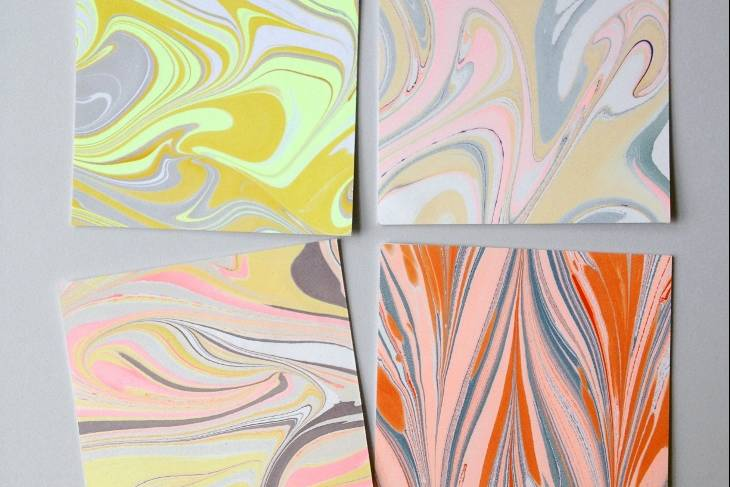 Natalie Stopka, Paper Marbling: Color Play