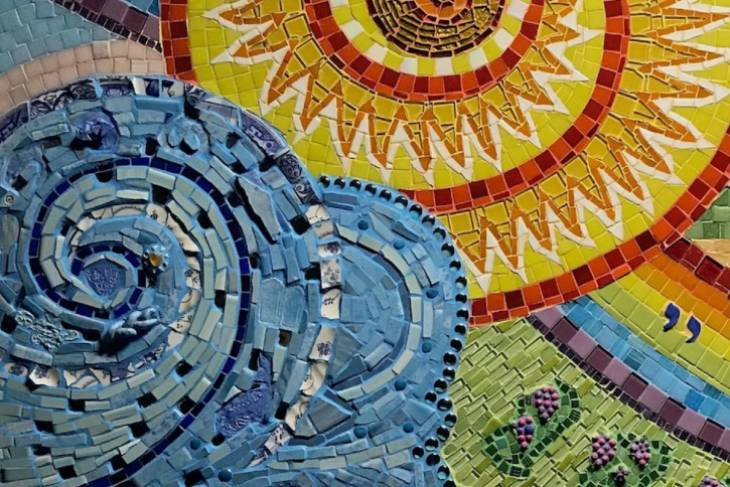 Josh Winer, Mixed Media Mosaics with Colored Grout
