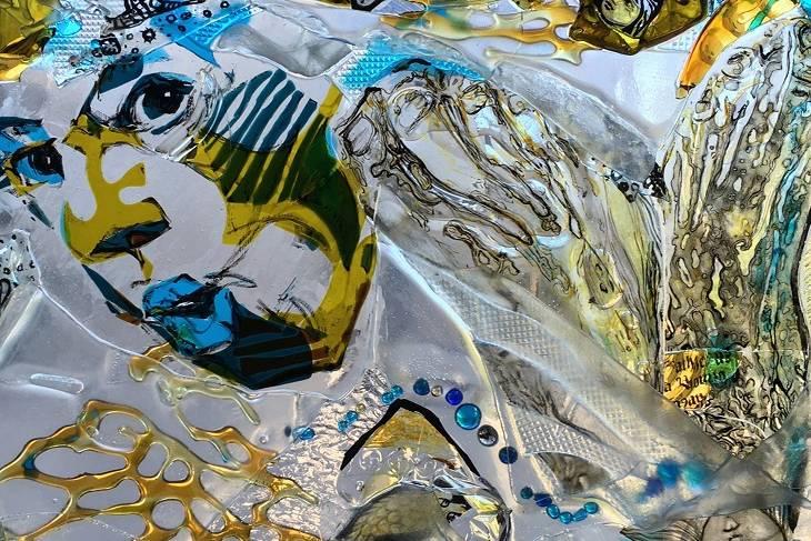 Sasha Zhitneva, Multidimensional Panels Through Glass Lamination, Kiln/Fused Glass