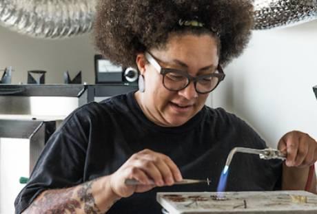 Tanya Crane, Metalsmithing/Jewelry, Enamel
