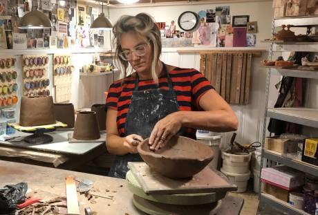 Kari Radasch, Pottery Party: Form, Line & Color