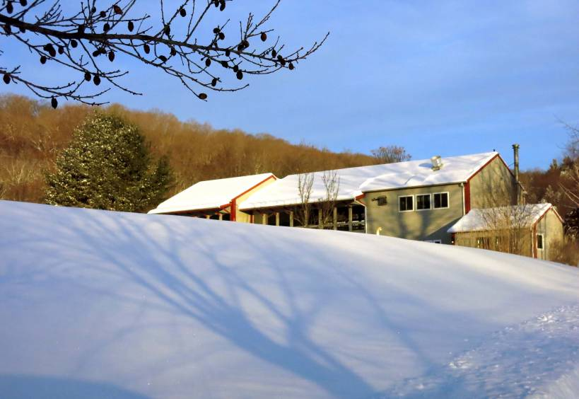 winter landscape photograph, new england winter