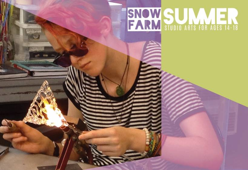 high school summer art program, flameworking, young artist