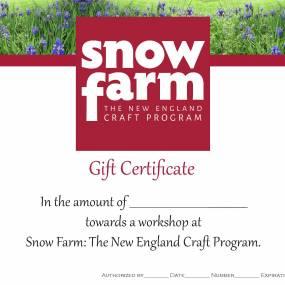 craft workshop, gift certificate
