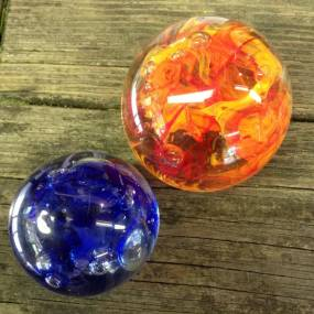 handmade glass paperwieights, learn glassblowing