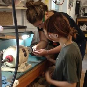 learn metalsmithing, make silver jewelry, high school summer art