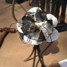 steel sculpture, learn welding teenager, high school art camp, summer art