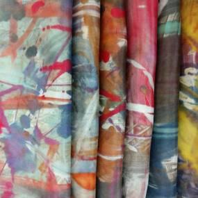 Kathy Klompas, Organic Expressions: Fluid Monoprint on Silk