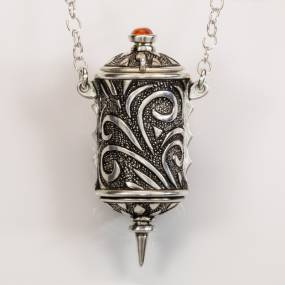 Terry Kovalcik, Shaman Prayer Locket in Silver Metal Clay