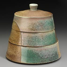 Maya Machin, Puzzle Pots: Stacking Canisters and Lidded Vessels, Ceramics