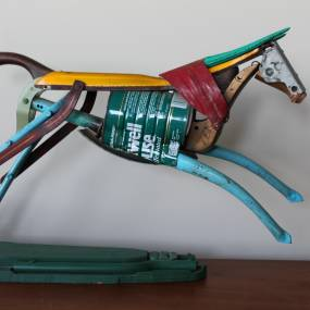 Leonard Streckfus, Metal Animal Sculpture with Found Objects and Cold Connections, Welding, Metal Fabrication