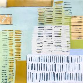 Dietlind Vander Schaaf, Encaustic and Paper: Collage, Dip, Monoprint, 2D, Mixed Media