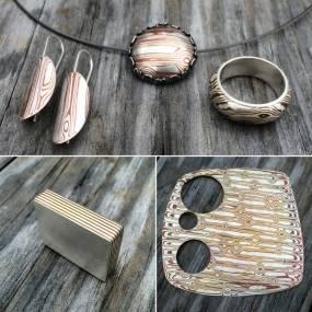 Metalsmithing. Eric Burris. Contemporary Mokume Gane