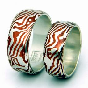 Metalsmithing. Eric Burris. Contemporary Mokume Gane