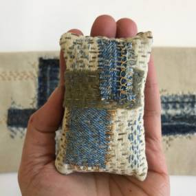 Eva Camacho-Sanchez, Seamless Felting, Mark-Making on Textiles, Slow Stitching