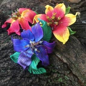 Sandy Huntress, Polymer Clay 101: Focus on Flowers
