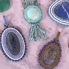 Susan Jefferson, Beaded Bezels - Beading Around a Cabochon, Metalsmithing, Jewelry